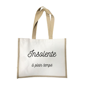 Grand sac Insolente a plein temps écru