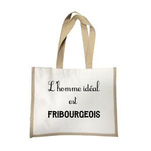 Grand sac L'homme ideal Fribourgeois écru