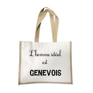 Grand sac L'homme ideal Genevois écru