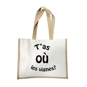 Grand sac T'as ou les vignes écru