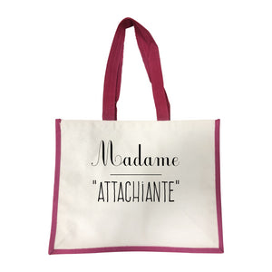 Grand sac Attachiante rose