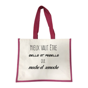 Grand sac Belle et rebelle rose