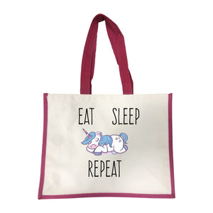 Grand sac Eat sleep repeat rose