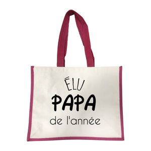 Grand sac Elu Papa de l'annee rose
