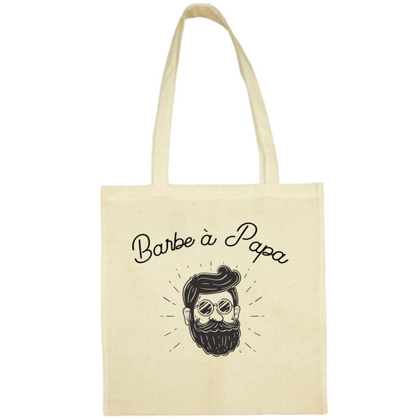 Tote Bag Barbe a papa écru