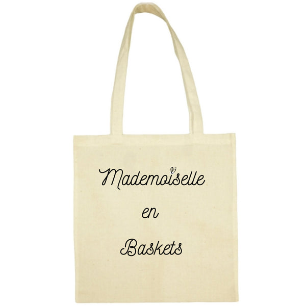 Tote Bag Mademoiselle en baskets écru