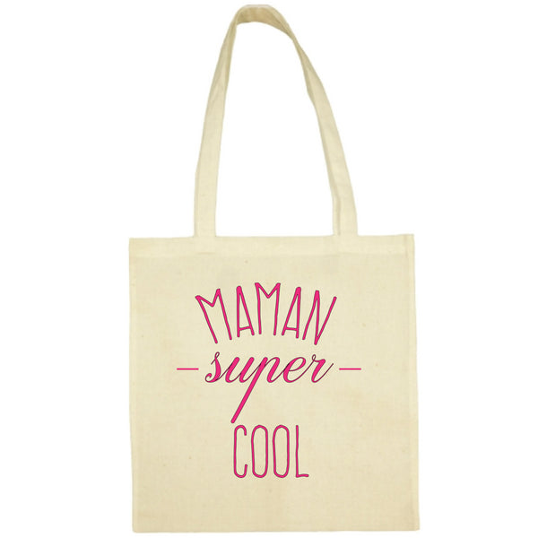 Tote Bag Maman super cool écru