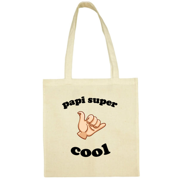 Tote Bag Papi super cool écru