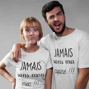 Duo T-shirt couple Saint Valentin