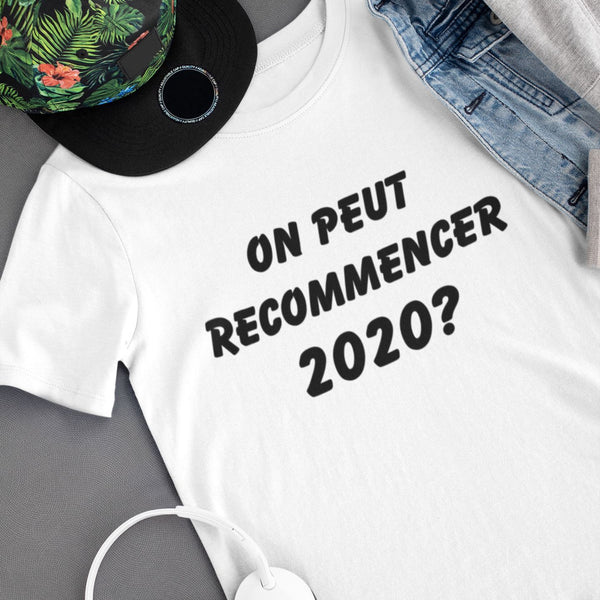 T-shirt femme On peut recommencer 2020?