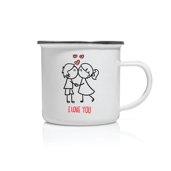 Mug émail I love you