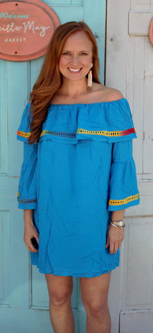 Sunset Dress in Turquoise