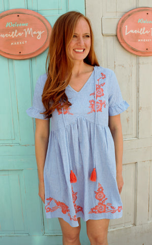 Denim & Flowers Dress