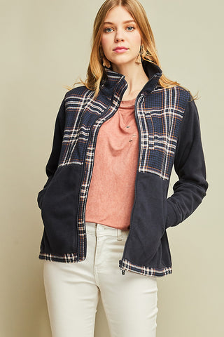 Perfect Plaid Jacket in Navy