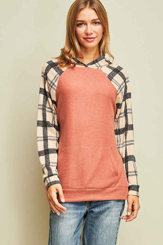 Pretty Plaid Top in Rust