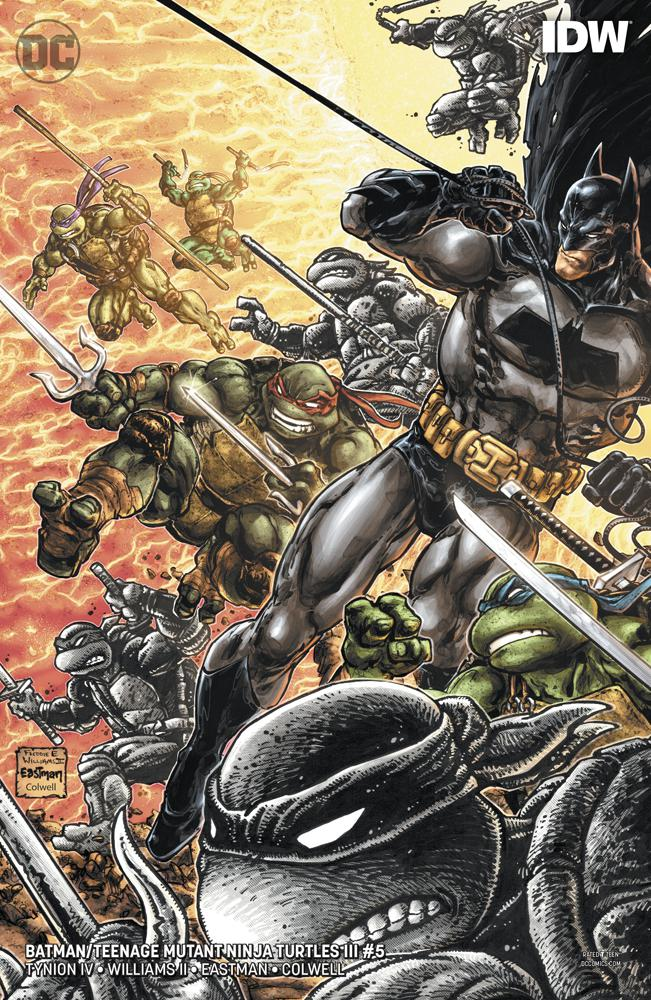 Batman / Teenage Mutant Ninja Turtles III # 5b