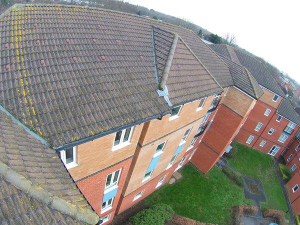 image of 55ft carbon fibre telescopic high definition roof camera survey
