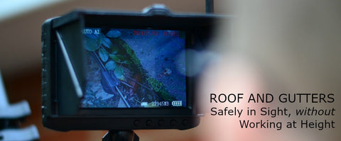 "Vantage Point Products image of wireless 5"" DVR monitor for all telescopic poles and gutter vacuum systems"