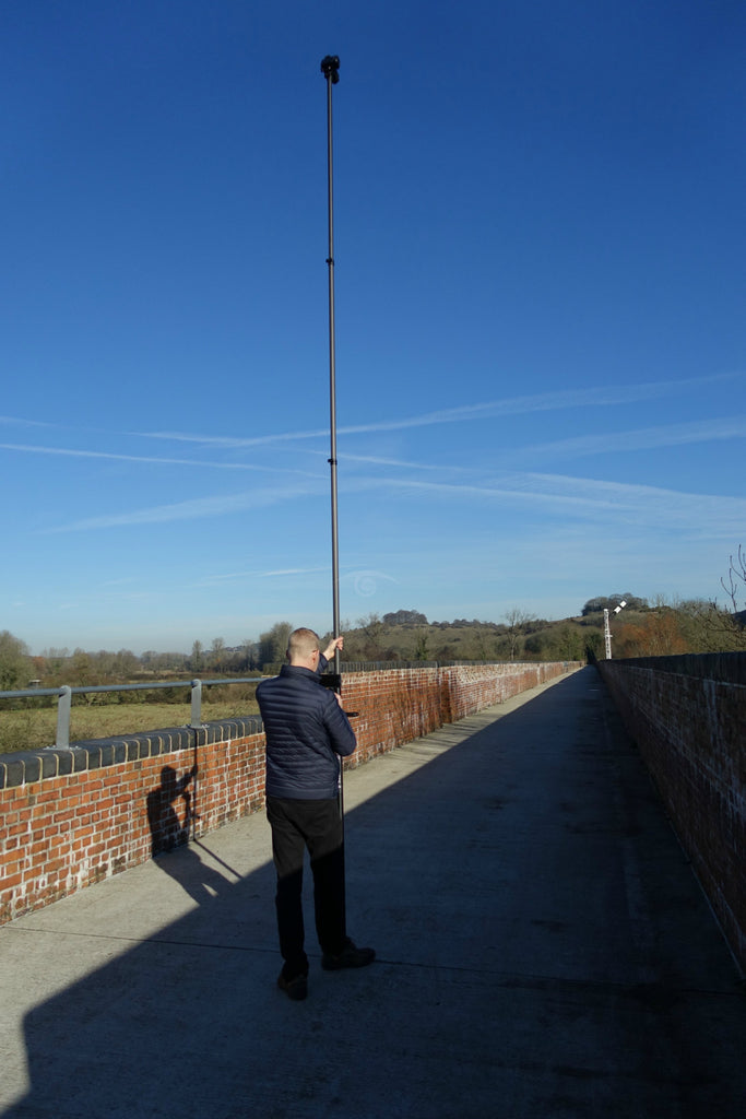 Vantage Point Products 18ft 5.5m Carbon Fibre Aerial Photography and Video Mast - Strong - Rigid - Compact, Osmo or DSLR Ready - No Tripod - No Drone Required - UK Design - £595.95 Ex VAT