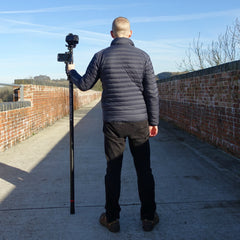 Vantage Point Products, Portable 1.63m retracted carbon fibre photography mast, 18ft 5.5m extended Carbon Fibre Aerial Photo and Video Mast - Strong - Rigid - Compact, Osmo or DSLR Ready - No Tripod - No Drone Required - UK Design - £595.95 Ex VAT