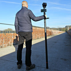 Vantage Point Products, Retracts to 1.63m, Extends to 30ft 9.25m Carbon Fibre Aerial Photography and Video Mast - Strong - Rigid - Compact, Osmo or DSLR Ready - No Tripod - No Drone Required - UK Design - £795.95 Ex VAT