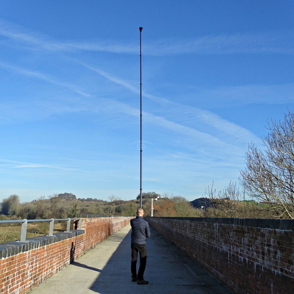 Vantage Point Products, 30ft 9.25m Carbon Fibre Aerial Photography and Video Mast - Strong - Rigid - Compact, Osmo or DSLR Ready - No Tripod - No Drone Required - UK Design - £795.95 Ex VAT