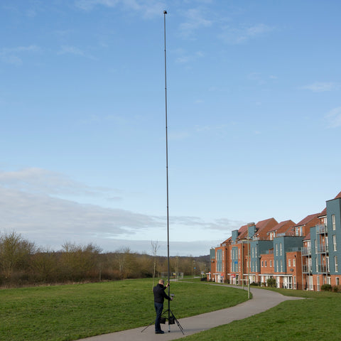 40ft 12.2m Telescopic 3K Carbon Fibre Photography and Video Mast - With Tripod