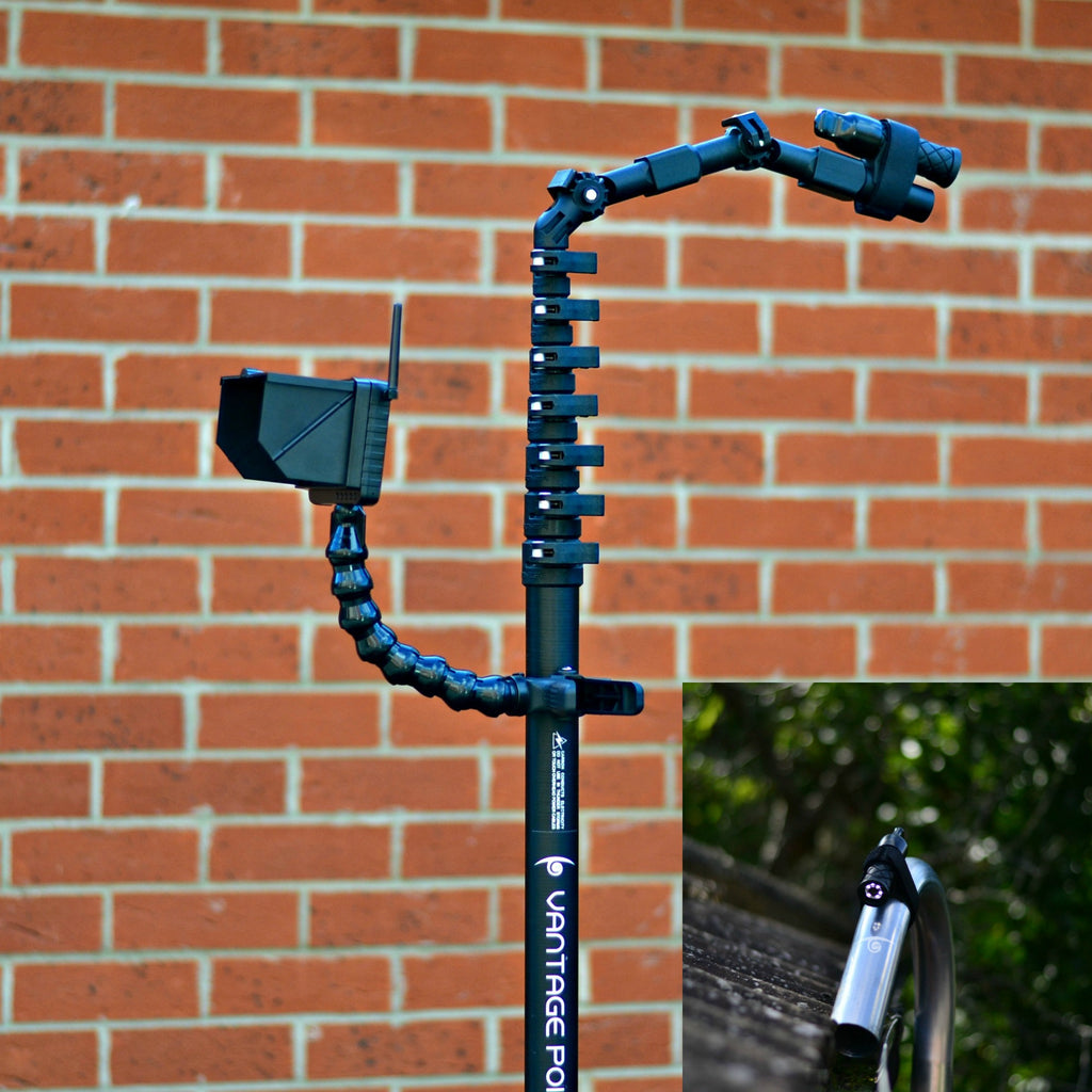 Vantage Point Products - ESSENTIAL - Telescopic Rugged WIRELESS Camera Survey Inspection Kit - For Gutter Vacuum Gutter Vacs