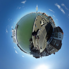 Vantage Point Products Portsmouth Southsea Spice Island aerial 360 VR panorama carbon fibre camera mast