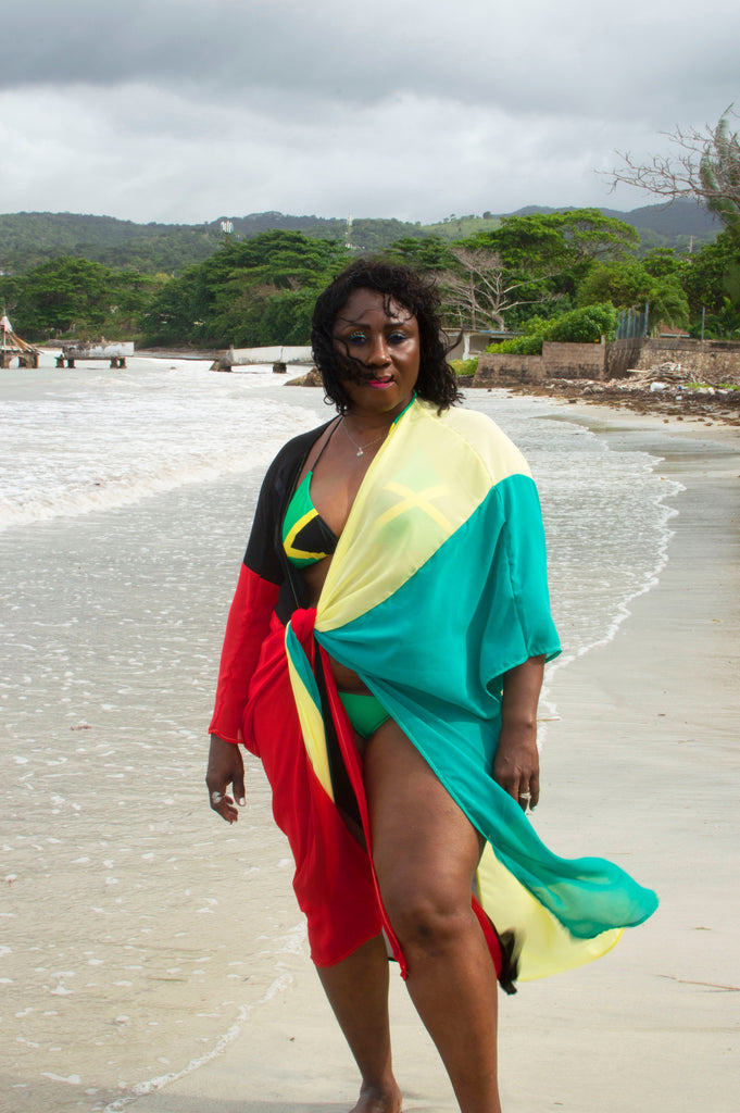 Jamaican Beauty Swim Cover Up