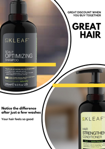 Hair Growth Shampoo + Strengthening Conditioner by KLeaf