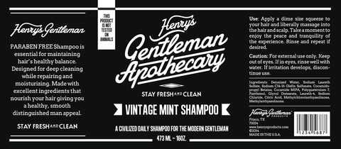 Henry's Tea Tree Shampoo 16oz.