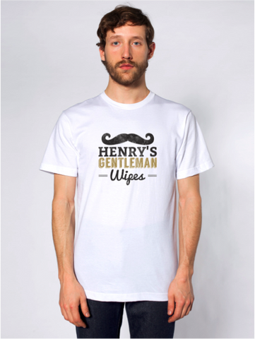 White Mustache T-Shirt Design