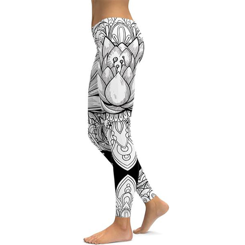 Print Yoga Pants Women Unique Fitness Leggings Workout Sports Running Leggings Sexy Push Up Gym Wear Elastic Slim Pants-408