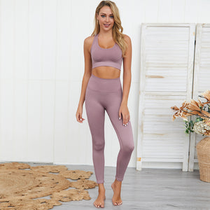 Wome's Seamless Yoga Workout Outfit 2 Pieces