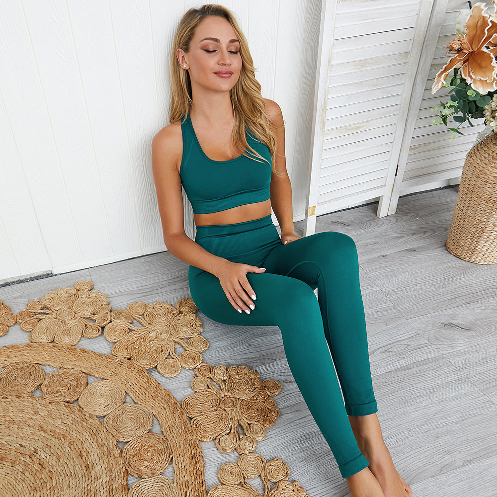 Wome's Seamless 2 Piece Yoga Set