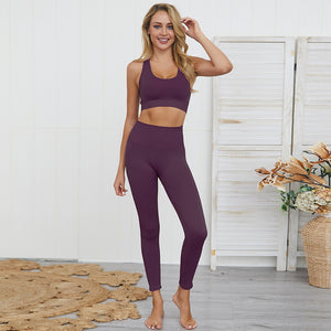 Wome's Seamless Workout Sets Purple