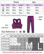 Women's Workout Outfit 2 Pieces Seamless Yoga Leggings with Sports Bra Gym Clothes Set-701