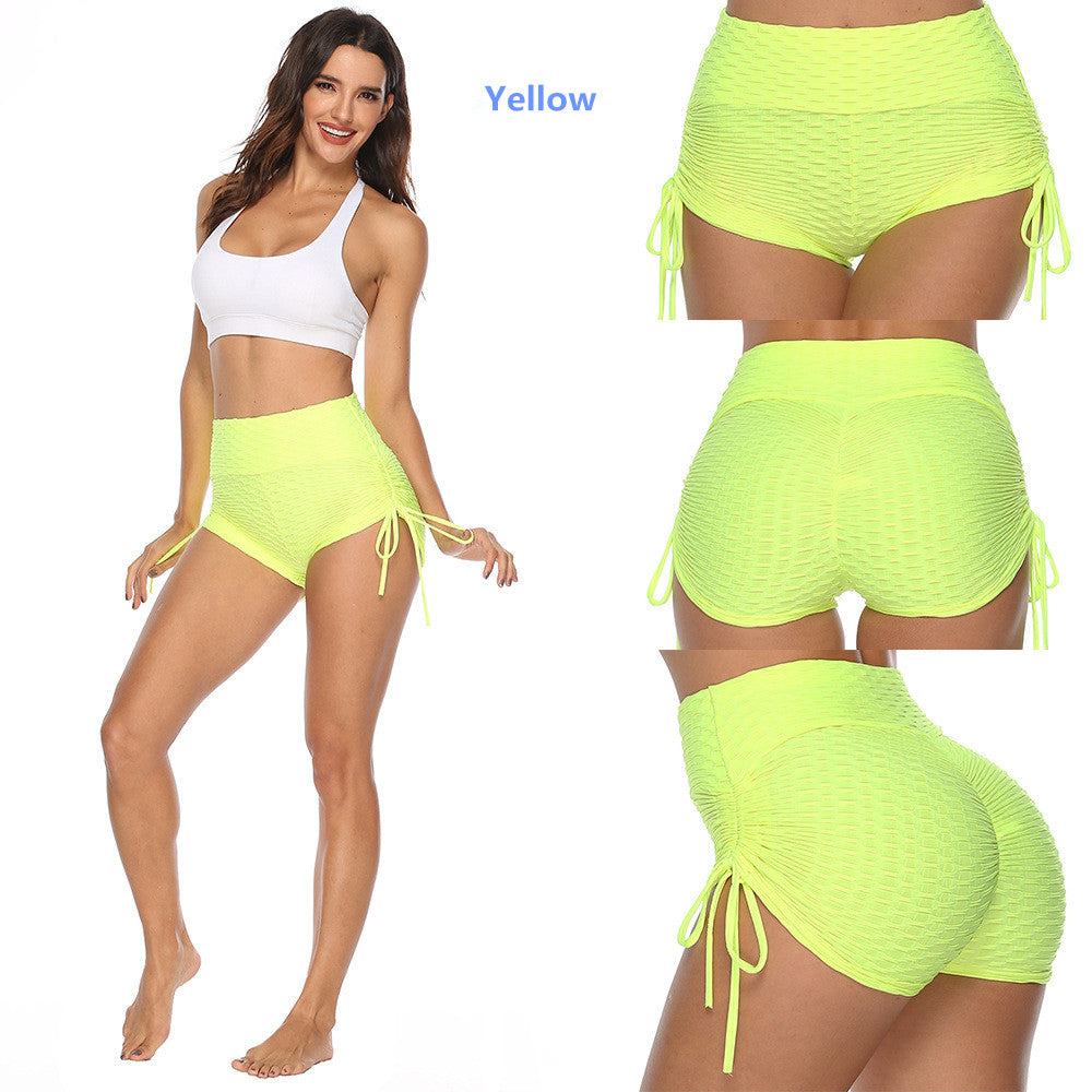 Workout Yoga Shorts for Women Sports Gym Push up Running Elastic High Waist Shorts Butt Lifting Hot Pants