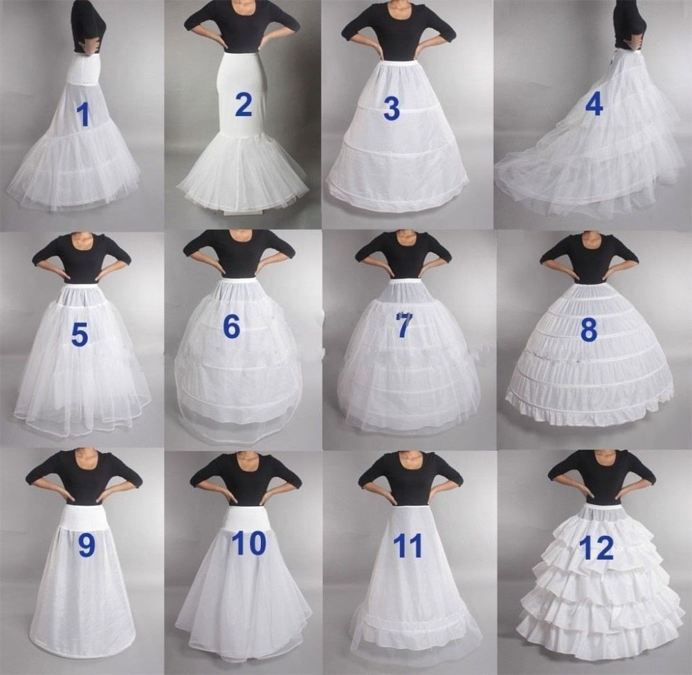 Bridal Wedding Petticoat Hoop Crinoline Prom Underskirt Fancy Skirt Slip In Stock