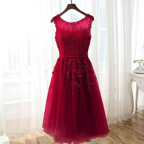Cocktail Dresses 2020 Applique Pearls Women Short Formal Prom Party Gown