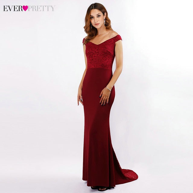 Sexy Sequined Evening Dresses Long Ever Pretty Double V-Neck Sleeveless Draped Sparkle Mermaid Evening Gowns Robe Longue 2020