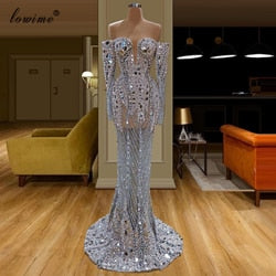 Dubai Luxury Muslim Celebrity Dresses 2020 Long Formal Evening Dress Arabic Abiye Mermaid Party Gowns Turkish Largos Vestidos