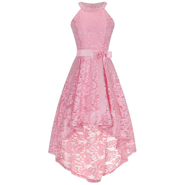New Bridesmaid fashion new neck lace pendant tail dress banquet dress girl's beauty graduation ceremony presided dress vestidos