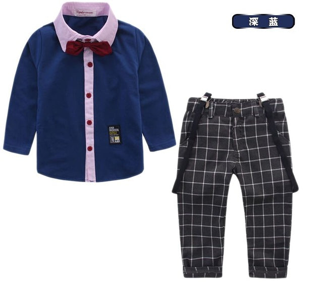 Special Offer~Fashionable England Style Cotton Boy's Wedding Party Suit/Boy's Attrie+free Bowtie & Strap 929A