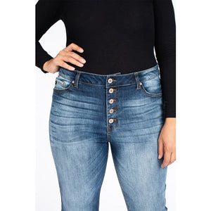 Layla Button Fly Skinny Jeans