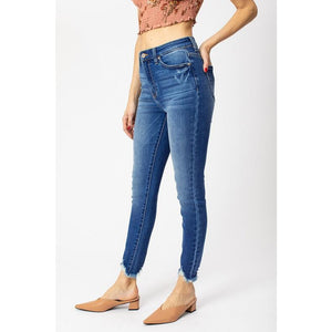 High Rise Hem Detail Jeans