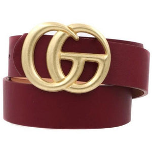 Textured GG Buckle Belt