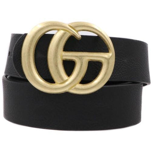 Textured G Buckle Belt