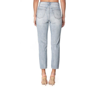 High Rise Ankle Mom Jeans